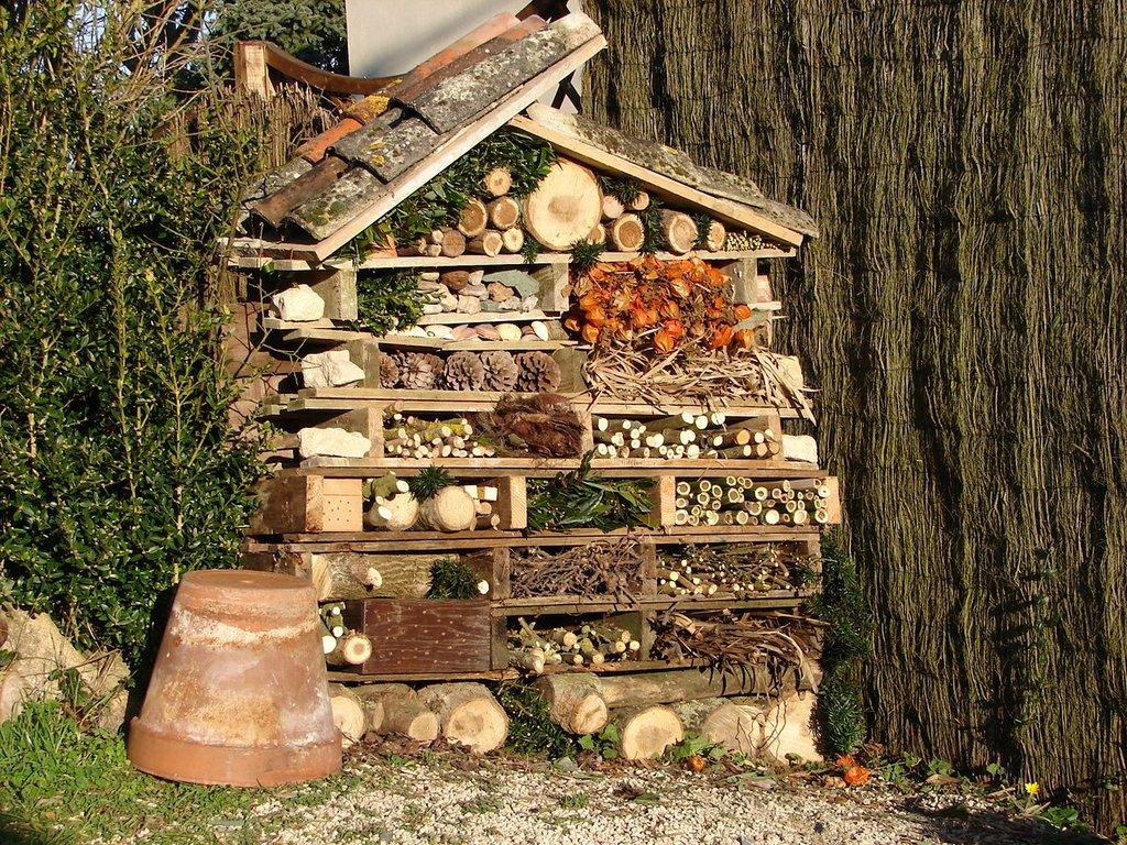 H tel insectes oui mais pour quels insectes - Fabriquer une maison a insecte ...