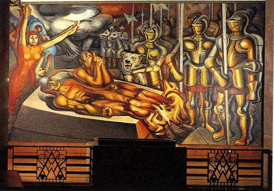 El tormento de cuauht moc siqueiros thinglink for El mural de siqueiros