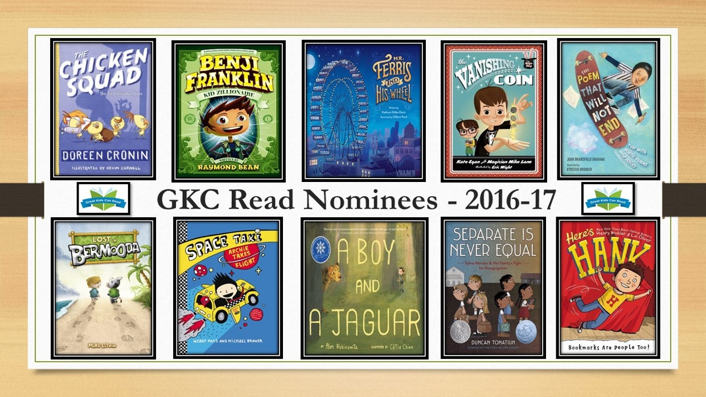 GKC Read 2016-17 Nominees