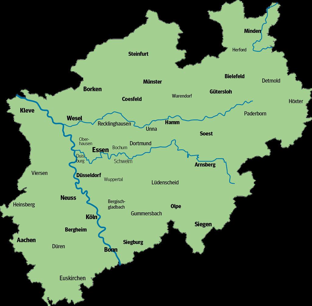 Flüsse In Nordrhein Westfalen