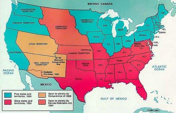 Until 1865 slave state...