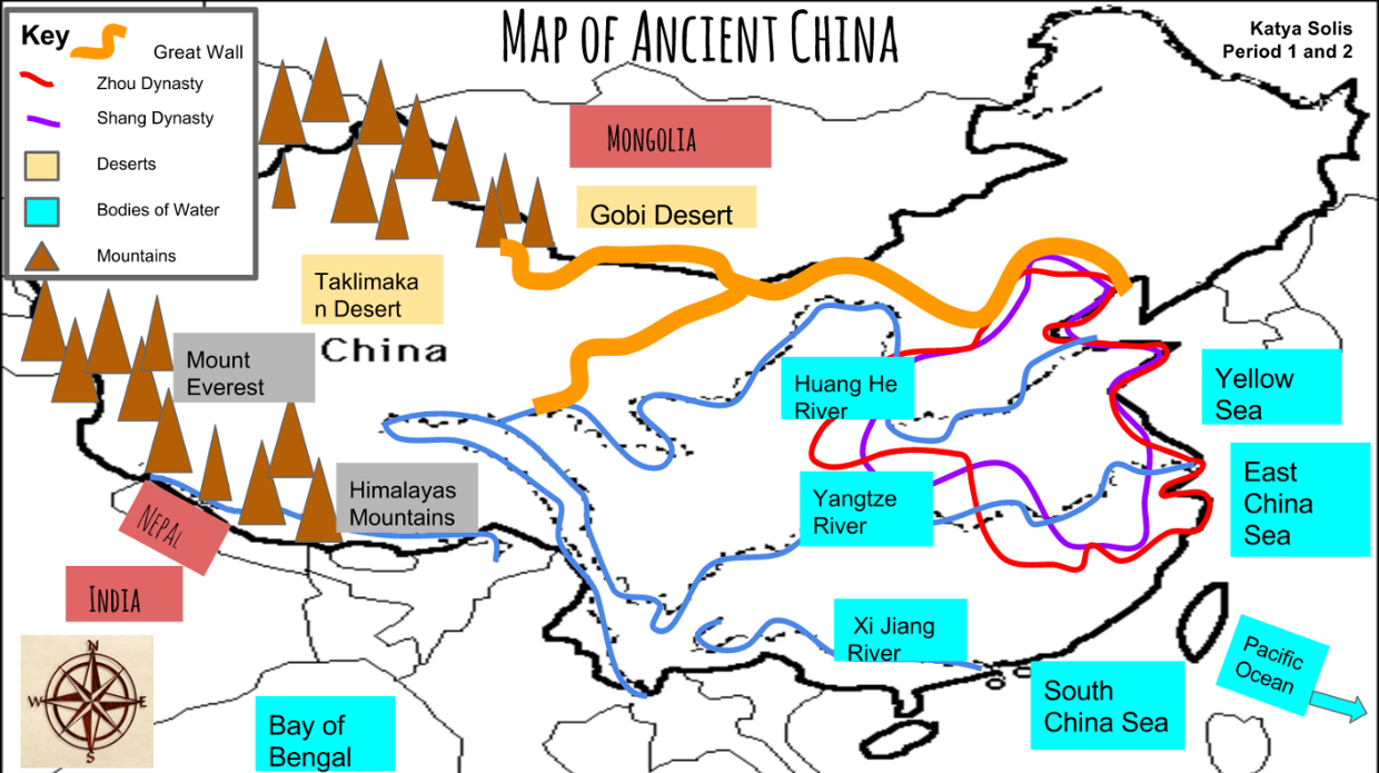 Map Of Ancient China