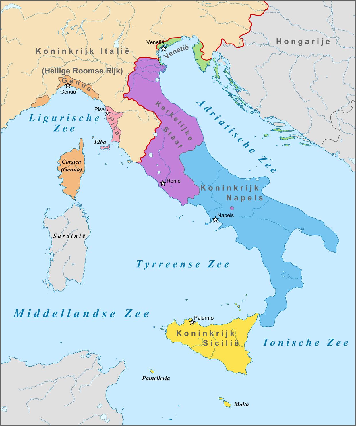 Map for Renaissance Italy - Devon Edwards