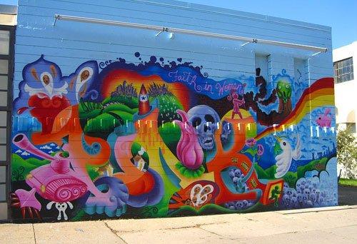 Espacios en el centro para pintar murales el patio trase for Murales para fotografia