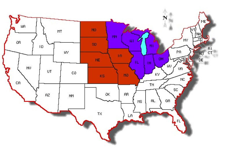 Midwest Region Of The United States ThingLink - Midwest region map