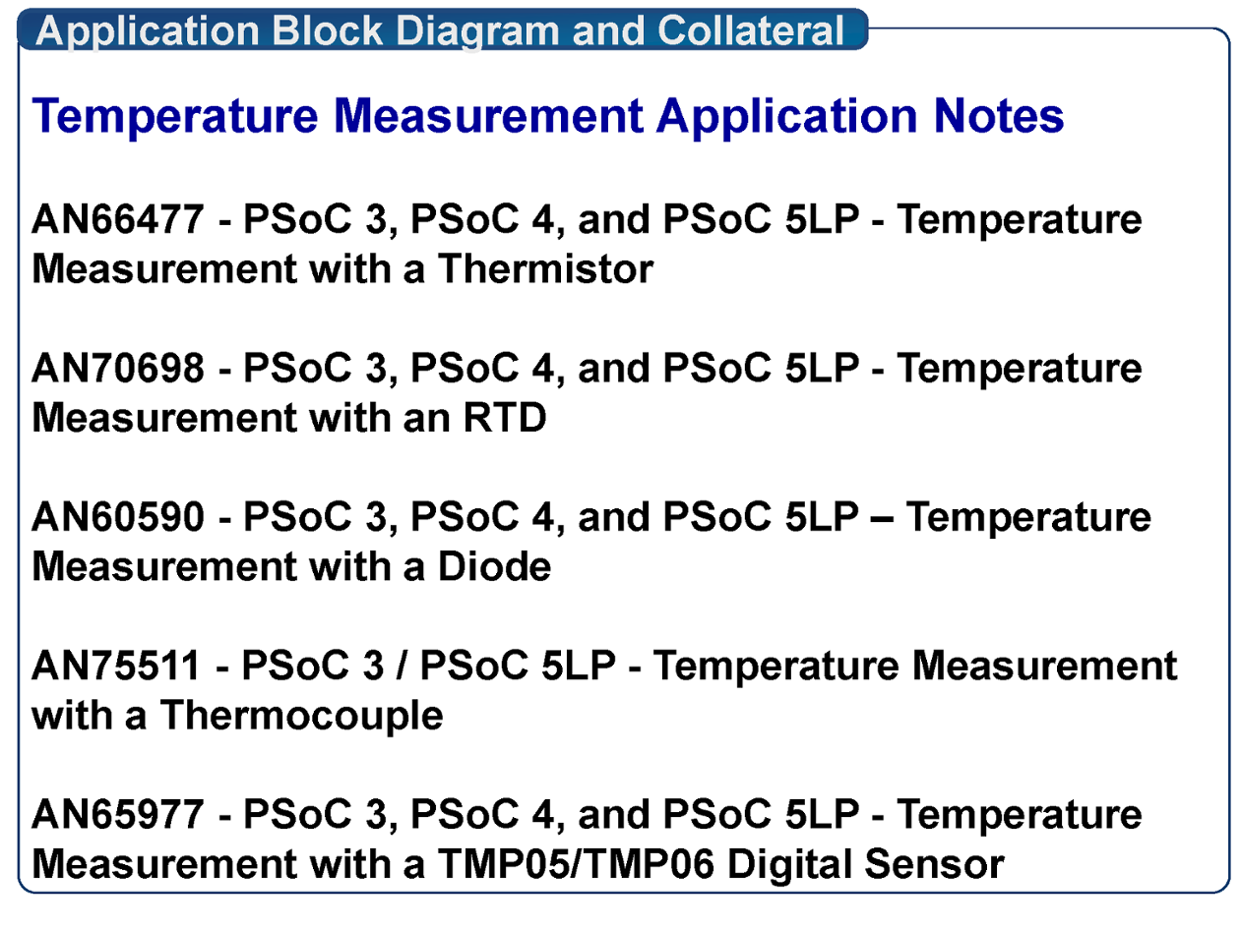 AN66477 - PSoC 3, PSoC 4, and PSoC 5LP - Temperature Meas.