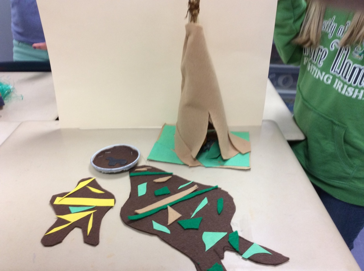 Sydney and Lauren Plains Indian tribe project