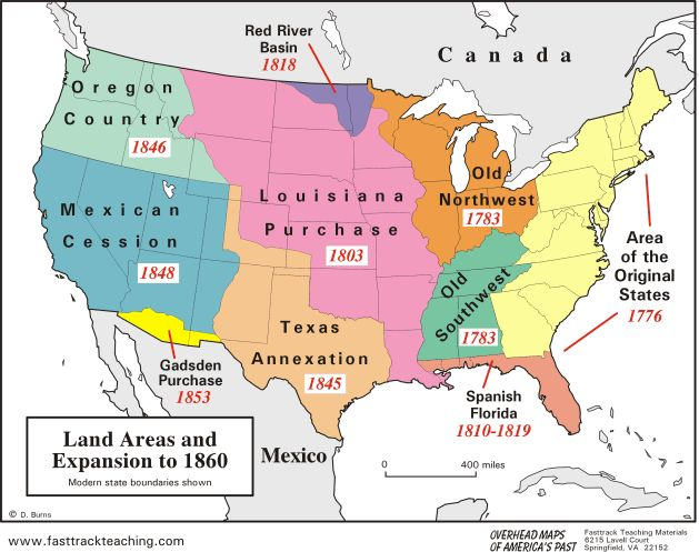 Worksheets Louisiana Purchase Activity : Westward expansion map
