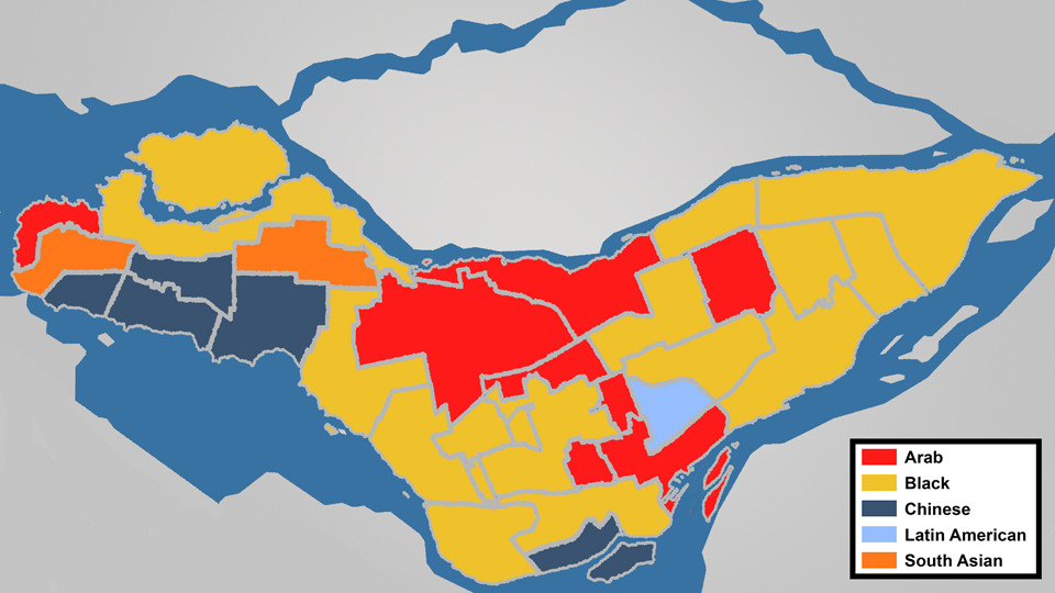 Where visible minorities live in Montreal | CBC News on ethnic groups of central america, ethnic population of europe, aboriginals in south america, paraguay map south america, ethnic western asia map, ethnic populations in africa, ethnic origin us map by county,