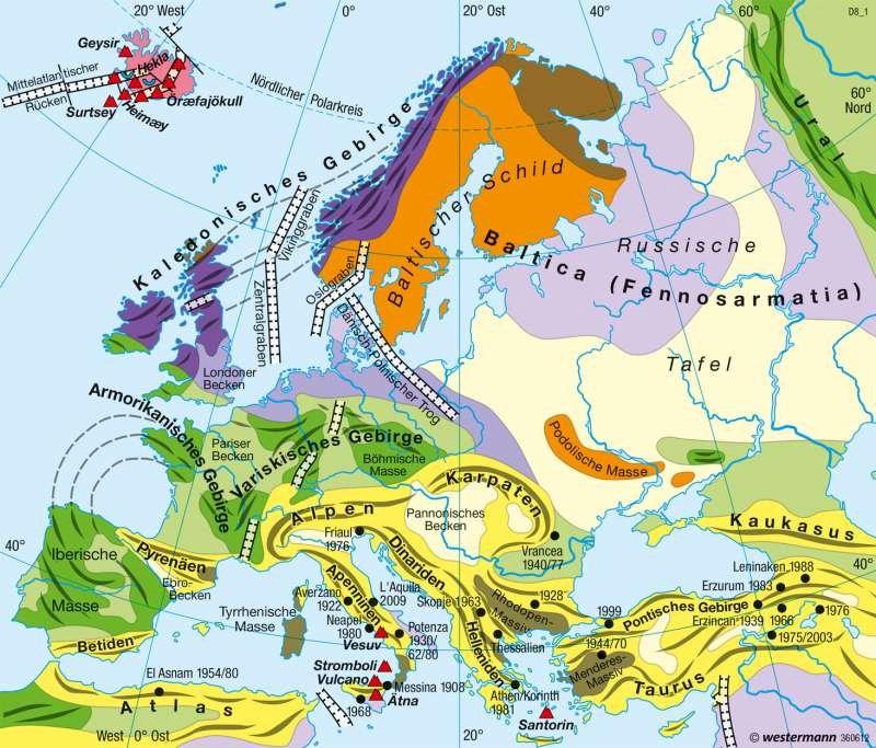 Tektonische Platten Europa