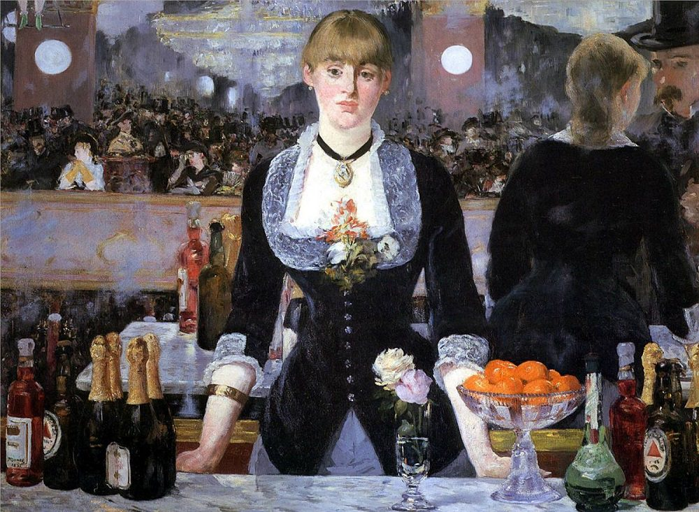 an analysis of edouard manets last painting a bar at the folies bergere But édouard manet laced this 1882 masterpiece with mystery, from the  ambiguous  look to the upper left corner of a bar at the folies-bergère, and  you'll notice a pair of  an earlier draft of the final painting offers a curious  contrast  also played with perspective in a way that's long inspired debate and  interpretation.
