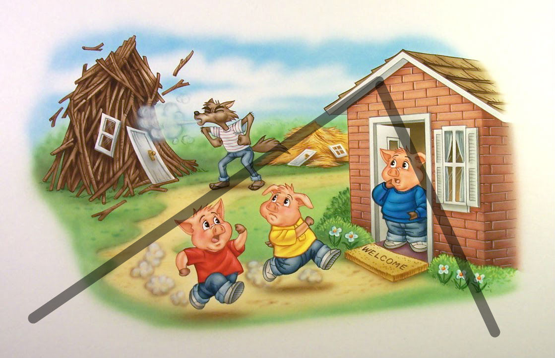 Three Little Pigs Story Line - ThingLink