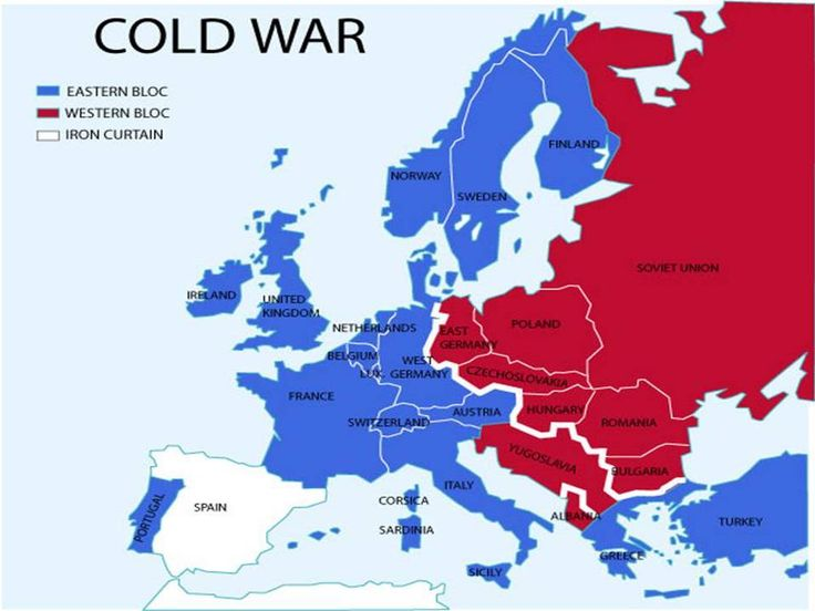 Map Of Germany Cold War.Remix Of Cold War Map From 1945 To 1961