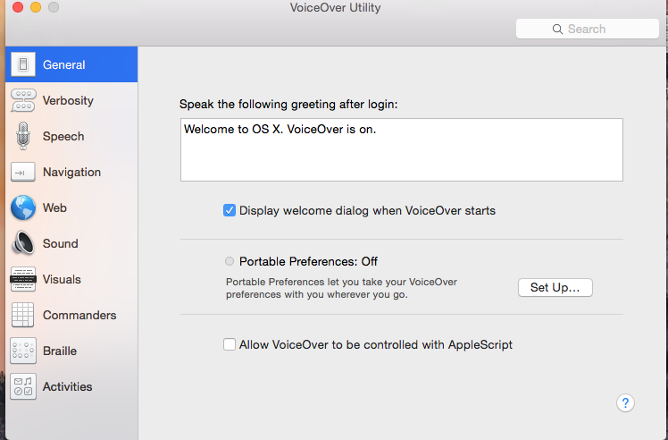 how to use voiceover on mac