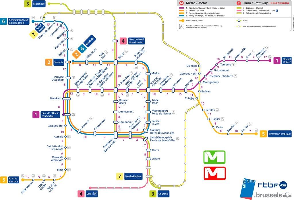 M tro bruxelles le plan interactif des 51 stations ouvertes de 7h 21h depu - Horaire cartreize ligne 51 ...