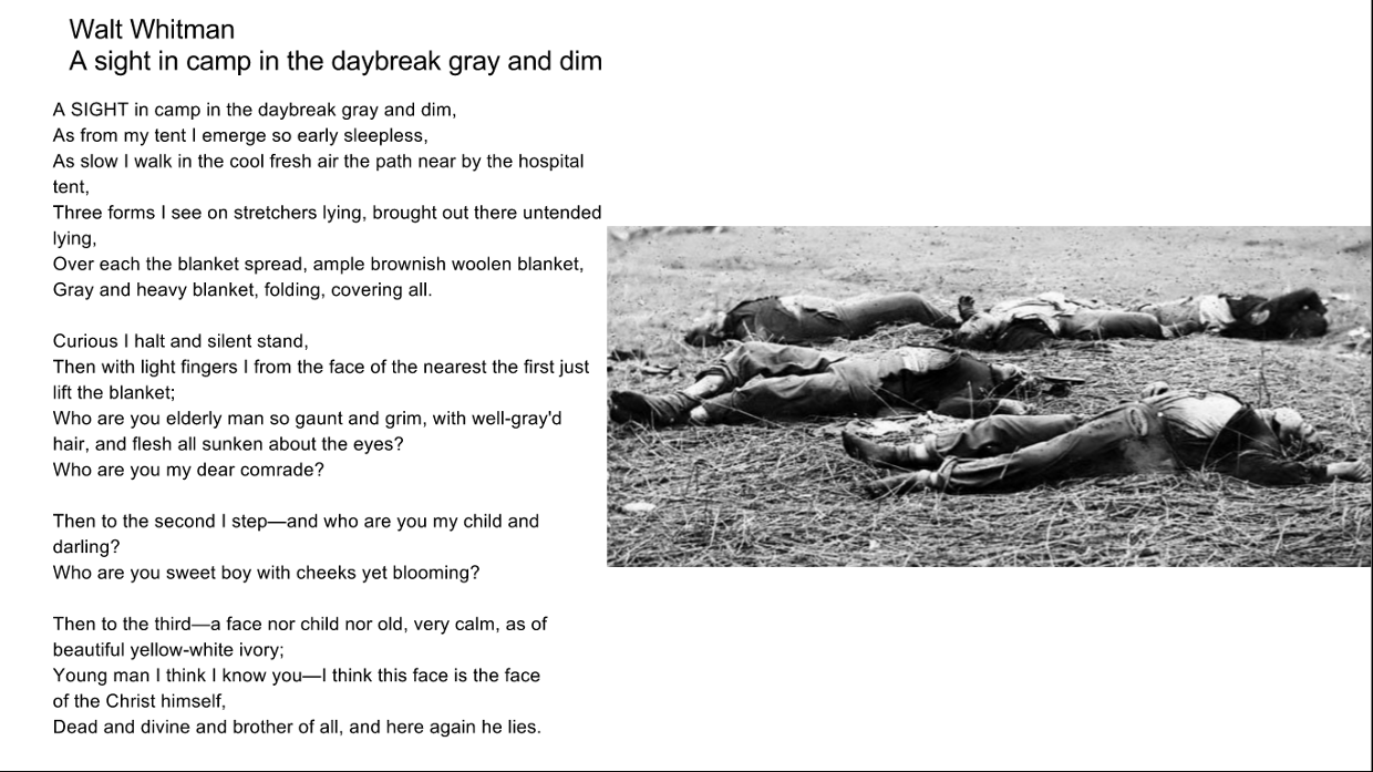 A Sight In Camp In The Daybreak Gray And Dim By Walt Whitman