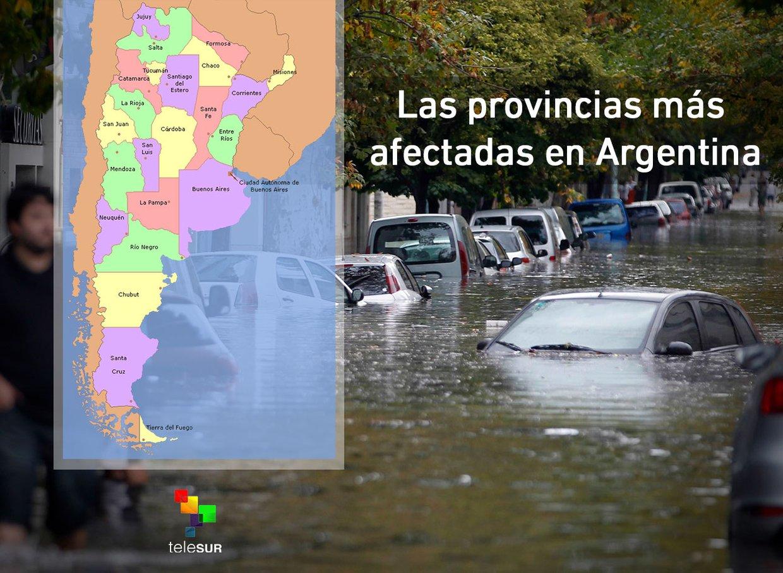 Las provincias más afectadas en Argentina