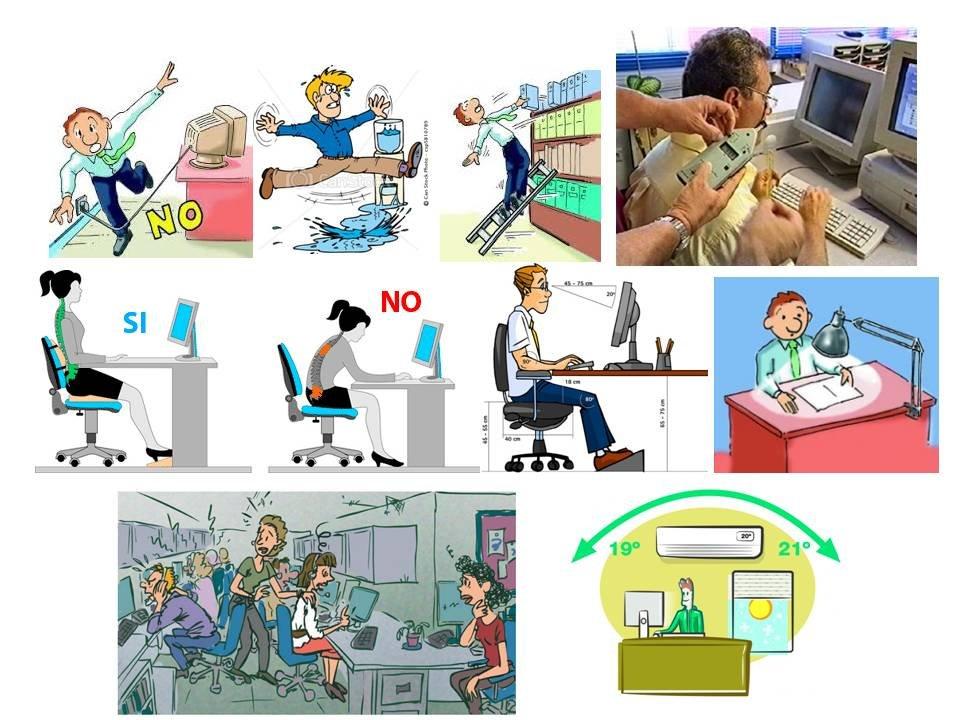 Riesgos laborales en oficina for Riesgos laborales en oficinas