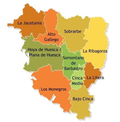 Mapa Provincia De Huesca Pueblos.Turismo En Huesca Huesca