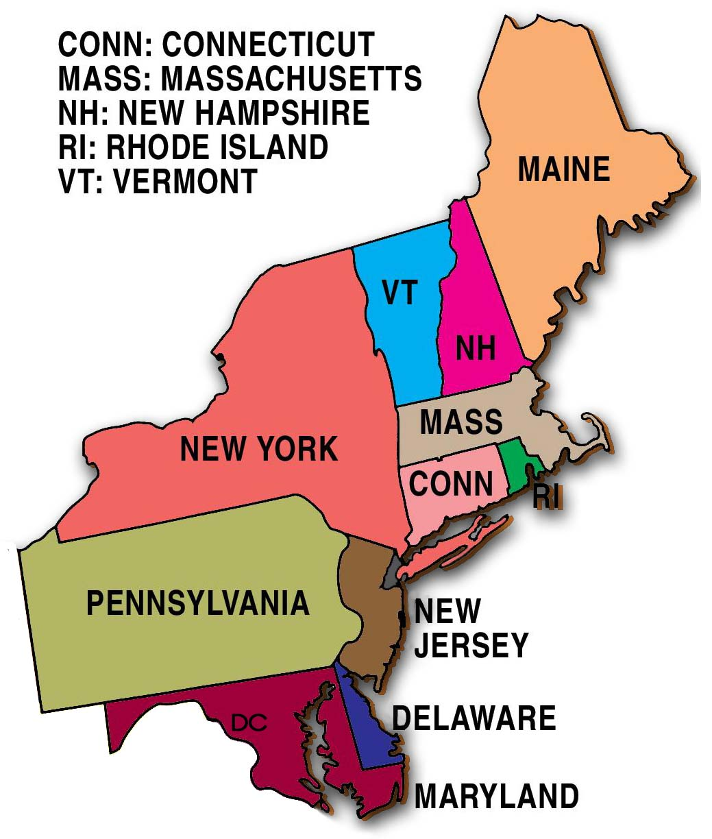 G Northeast ThingLink - Map of us northeast