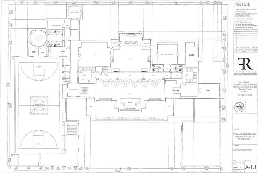 plan of a master bedroom