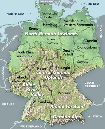 Landscape Of Germany The South Has Many Mountains ThingLink - Germany physical map
