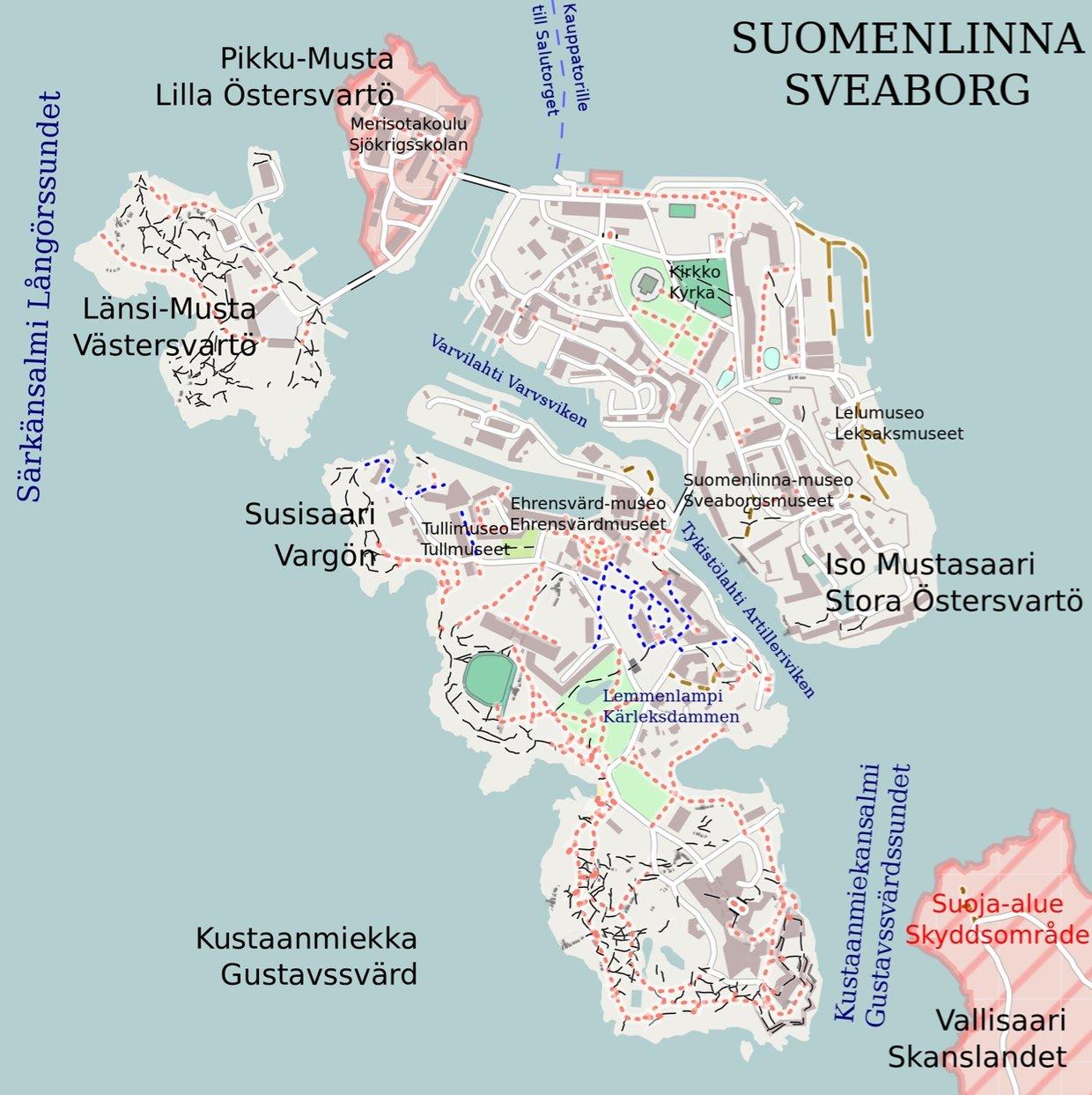suomenlinna kartta Suomenlinna kartta
