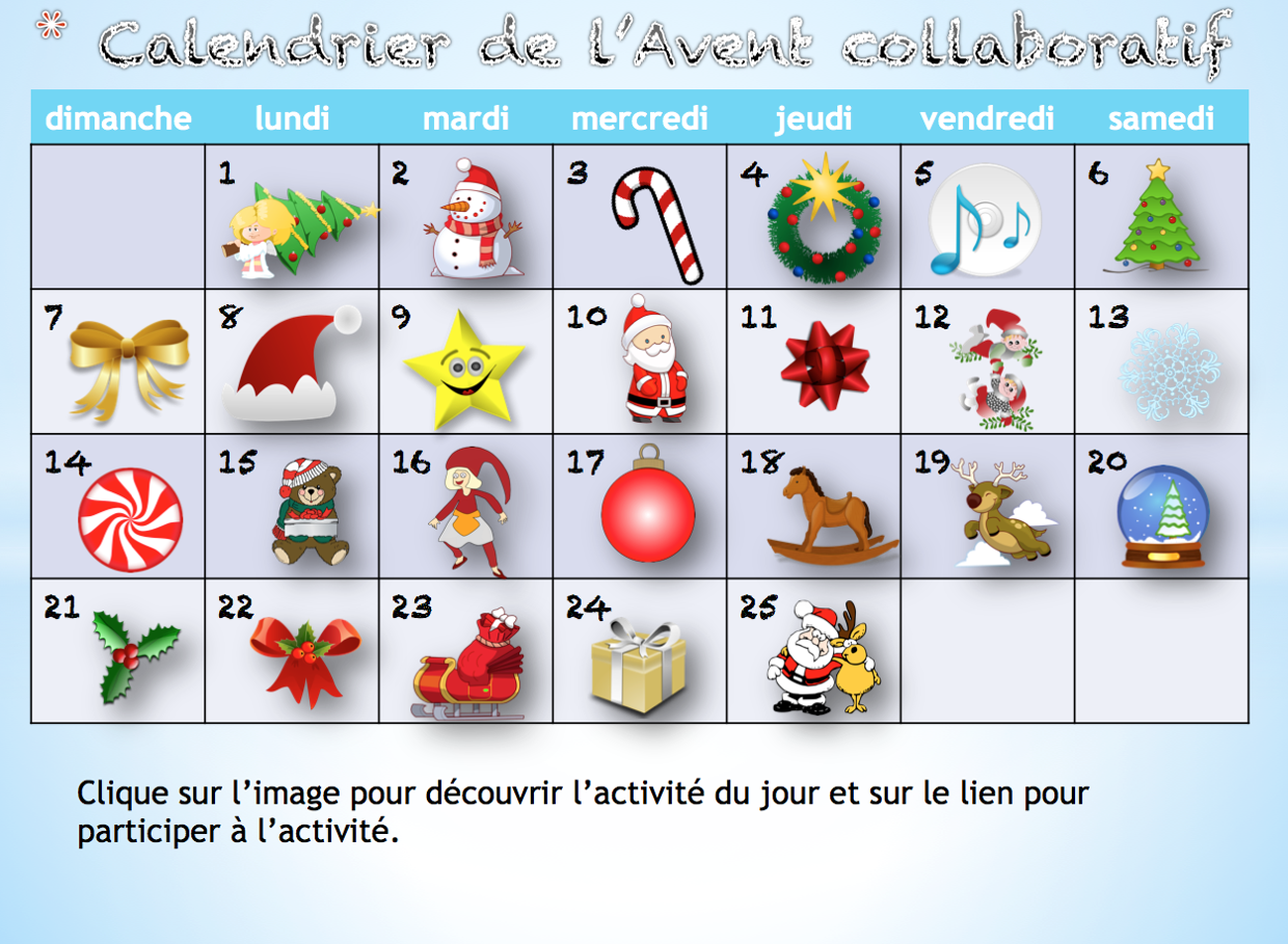"Remix of ""Remix of ""Calendrier de l'Avent collaboratif"""""