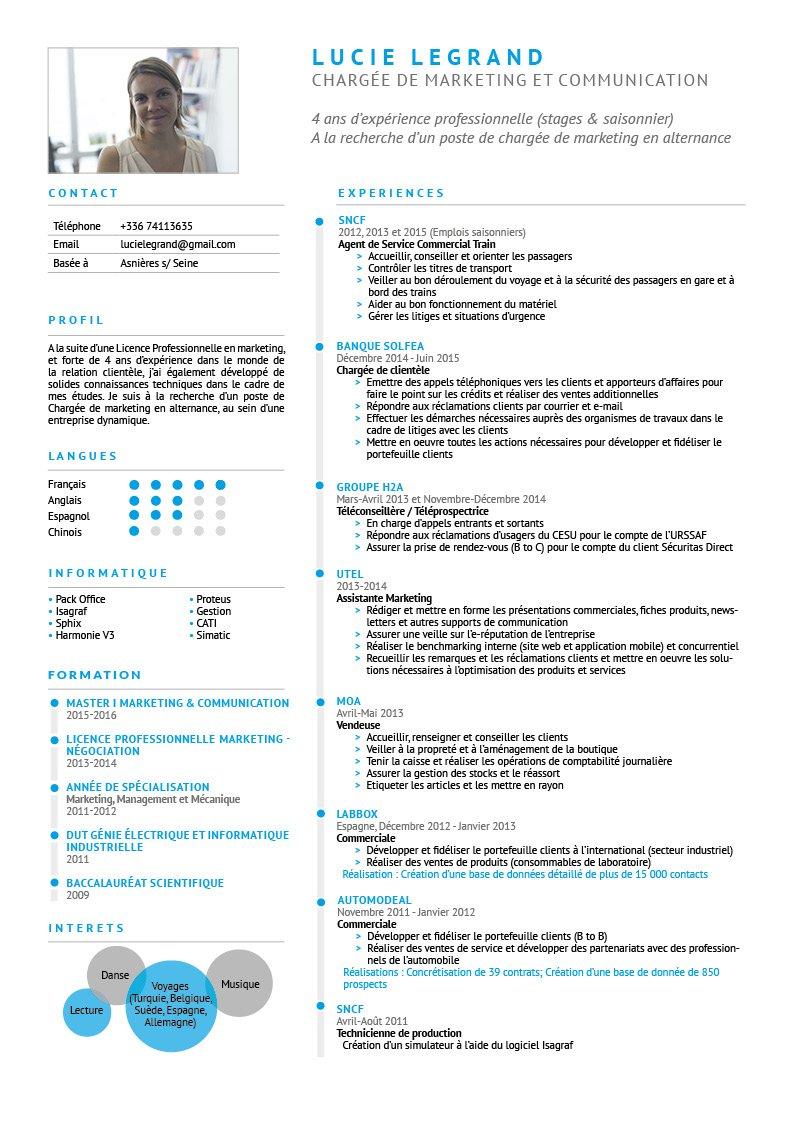 Exemple Cv Chargé De Clientèle Banque - Le Meilleur Exemple