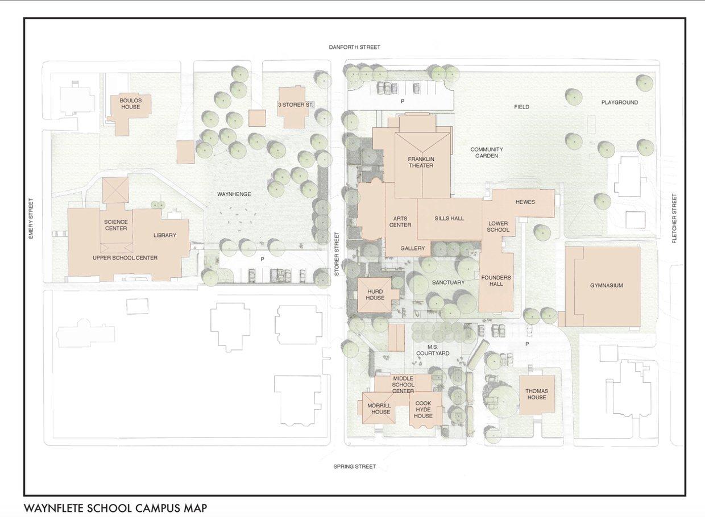 Waynflete Campus Tree Map