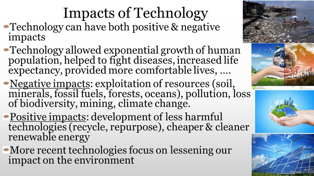 technology possitive impact on society Research about the negative and positive impacts of technology on today's  society.