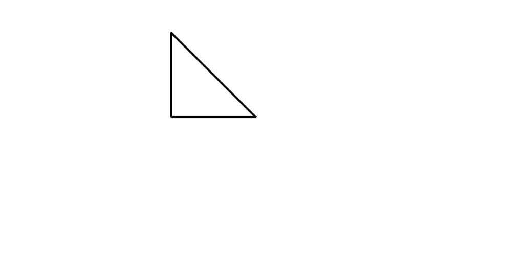 Scalene Triangle Outline Right angle, ac...