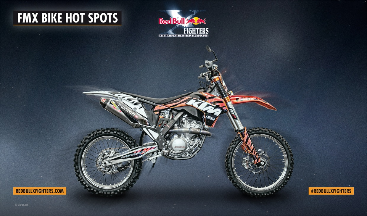 Red Bull X-Fighters Bikes - Mat Rebeaud´s KTM SX350
