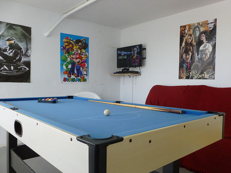Games Room With Ps4 Pool Table Darts And Table Football