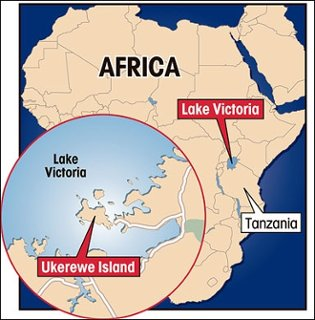 Lake Victoria On Map Of Africa.Lake Victoria Africa By Nora Thorson