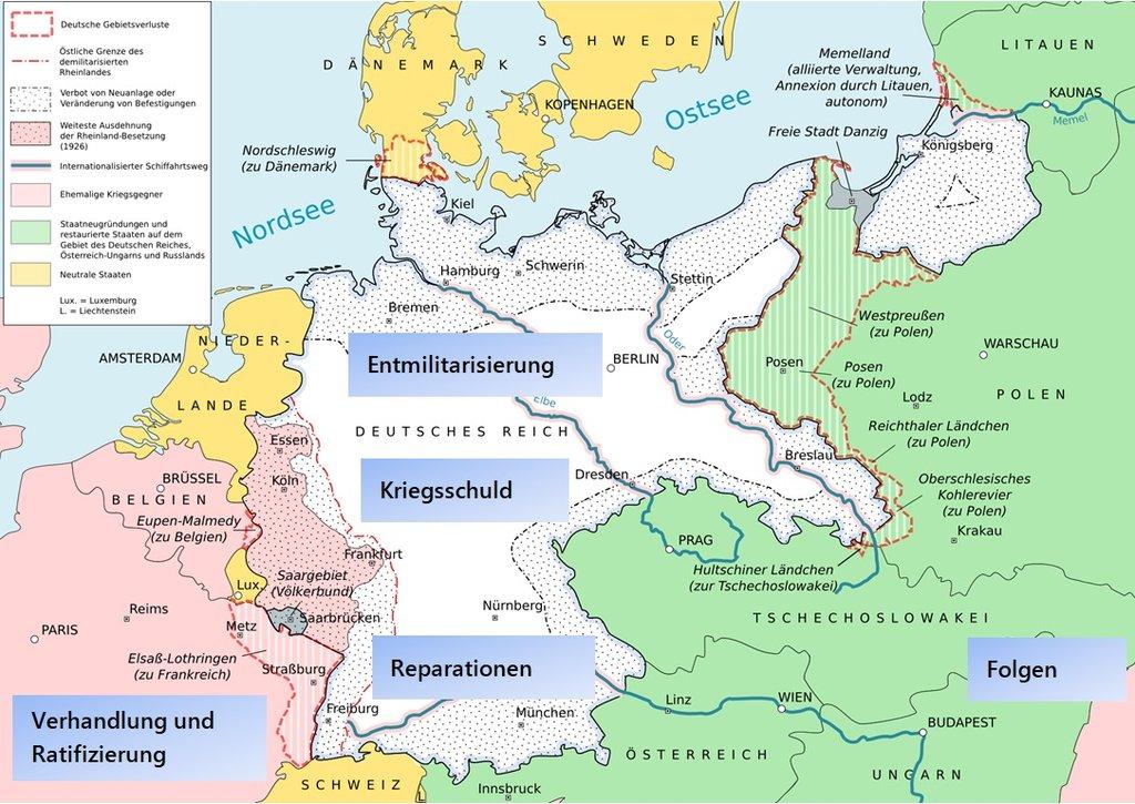 Deutsche Karte Vor Dem 1 Weltkrieg.Versailler Vertrag Eine Ordnung Des Friedens Segu