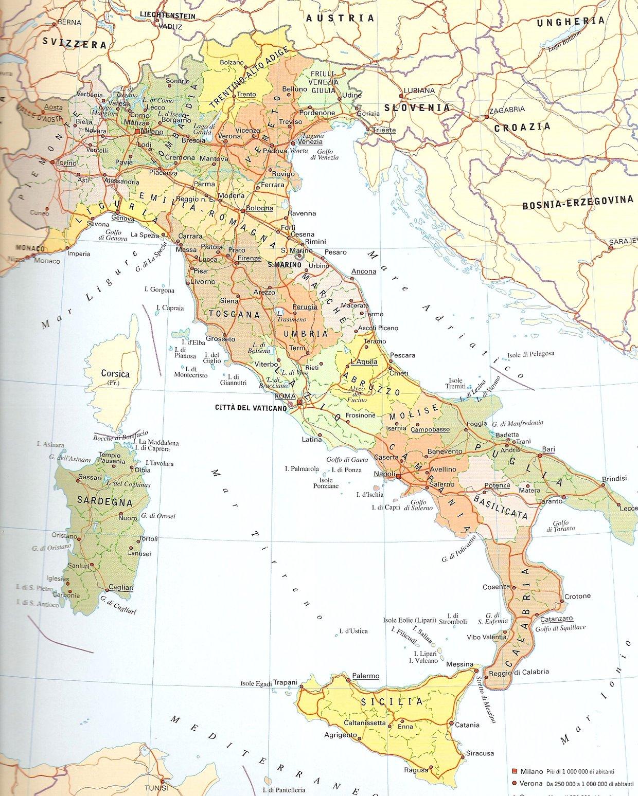 Cartina Province Marche
