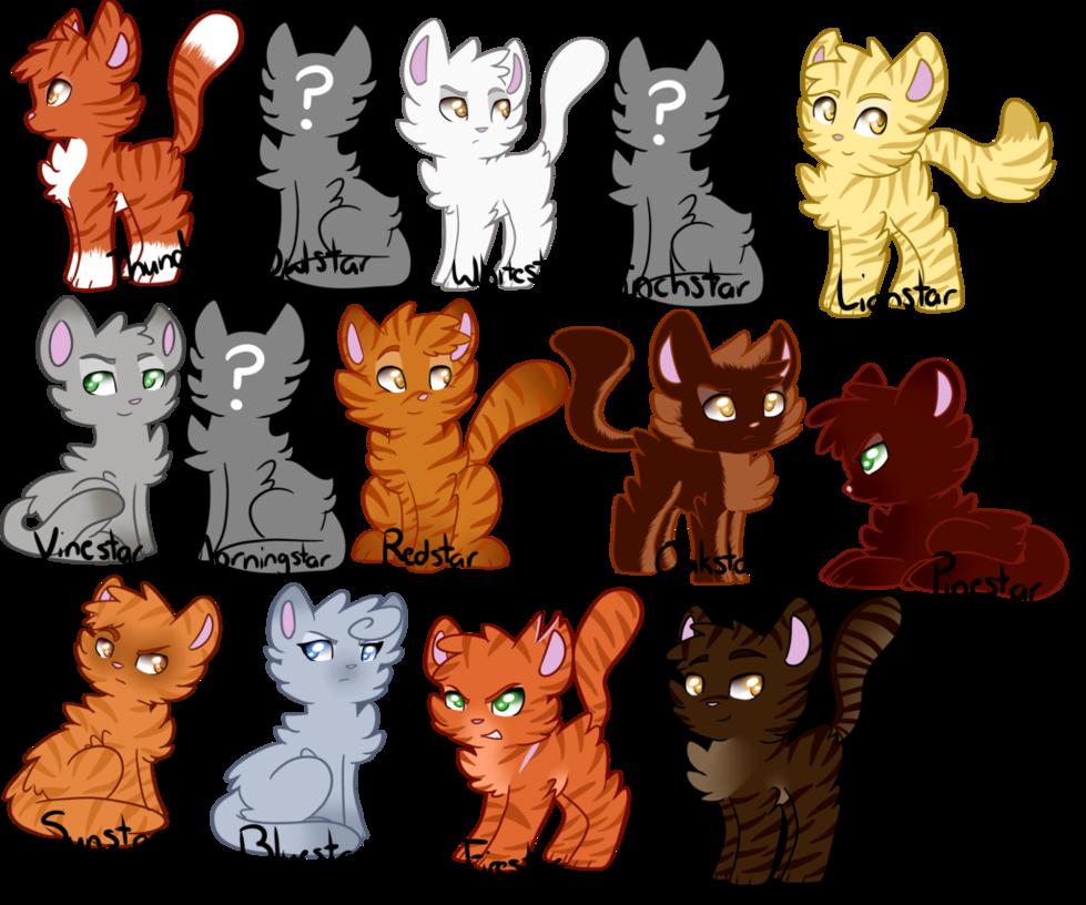 Thunderclan Leaders (Warrior Cats