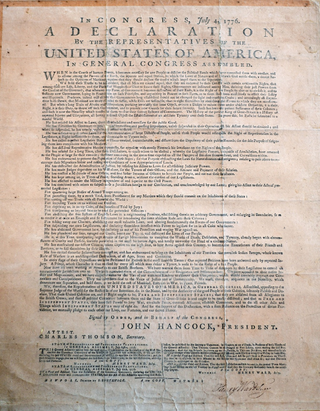 university receives rare copy of declaration of independence the  university receives rare copy of declaration of independence the source washington university in st louis