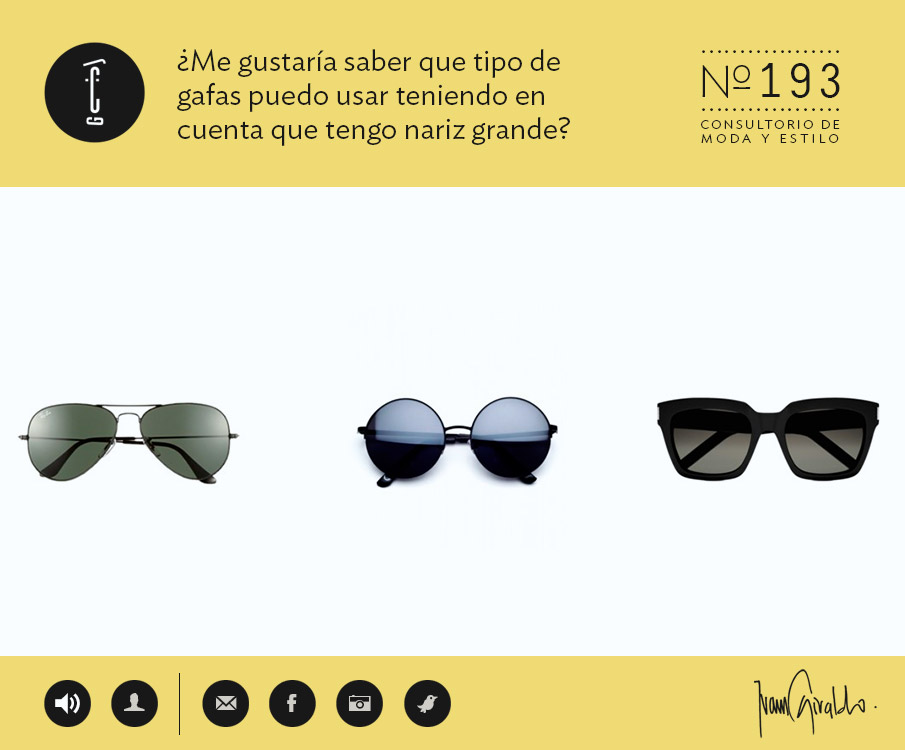 9c4c81b450 TUATU – Consultorio: ¿Me gustaría saber que tipo de gafas puedo usar  teniendo en cuenta que tengo nariz grande?