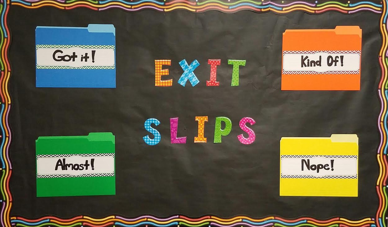 Exit Slips Interactive Bulletin Board