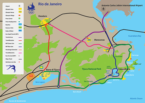 Rio Olympic Map