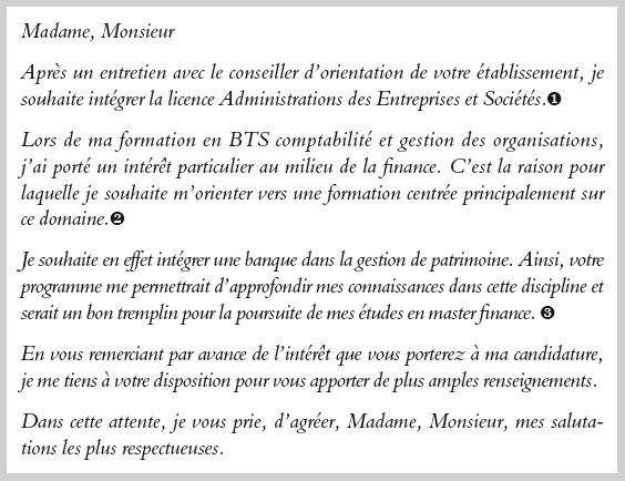 Lettre De Motivation Licence Psychologie Parcoursup