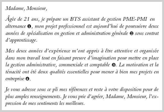 lettre de motivation bts assistant de gestion pme pmi pour entreprise