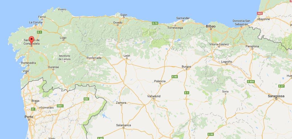 Jakobsweg Frankreich Spanien Karte.Jakobsweg Spanien Etappen Des Camino Frances
