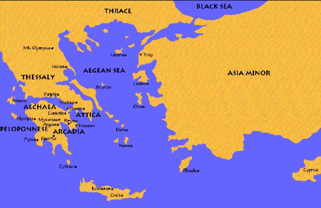 Map Of Ancient Greece And Some Of Its City States And More