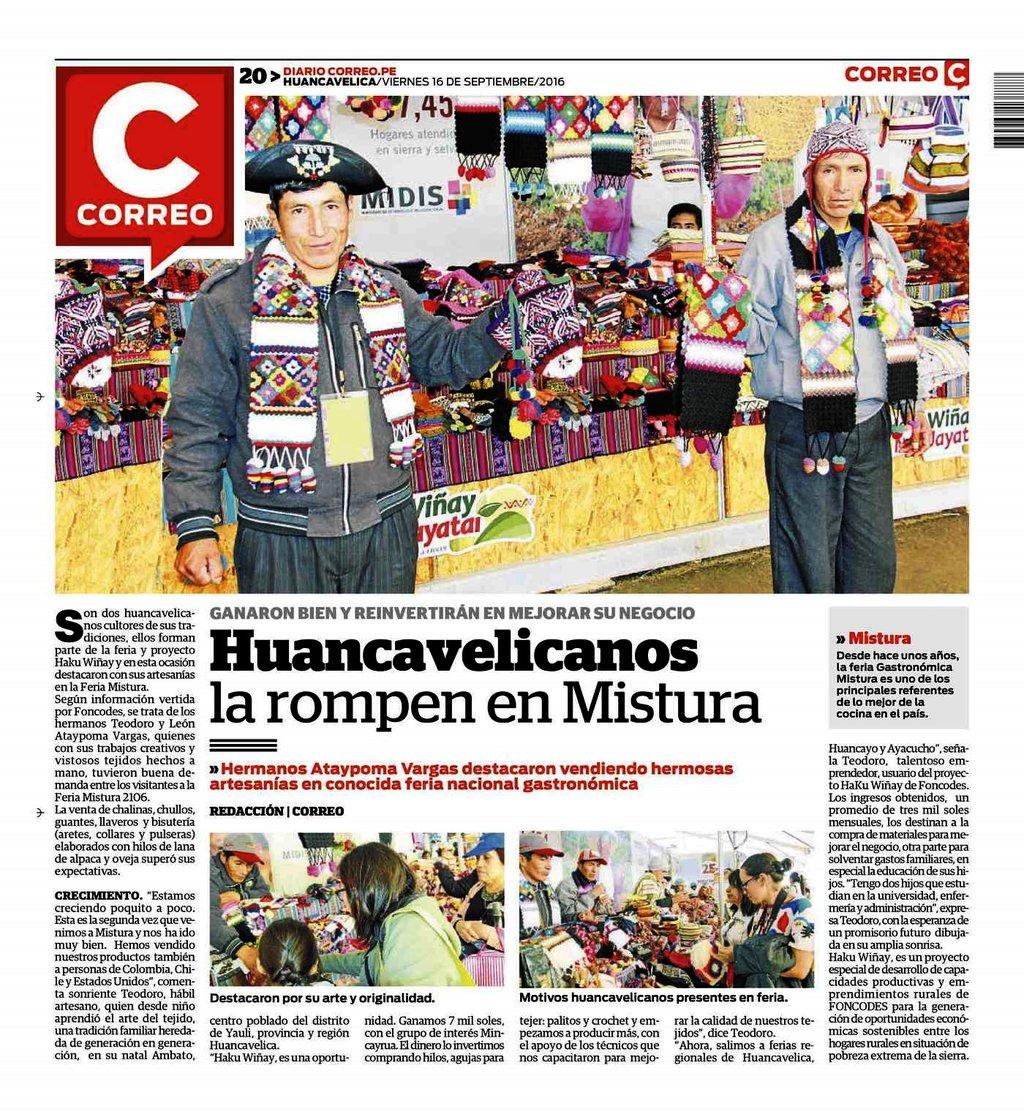 In Arte Nino 2016 2016 09 16 - huancavelicanos la rompen en mistura