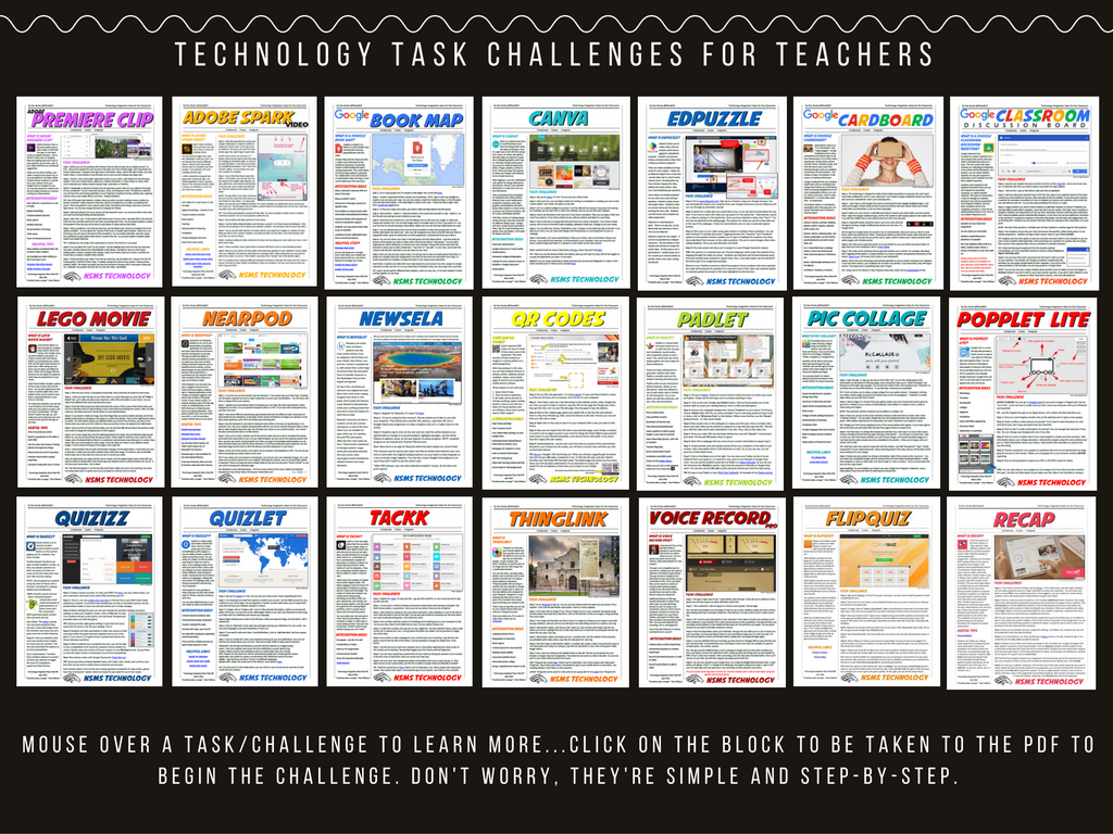 Technology Task/App Challenges for Teachers