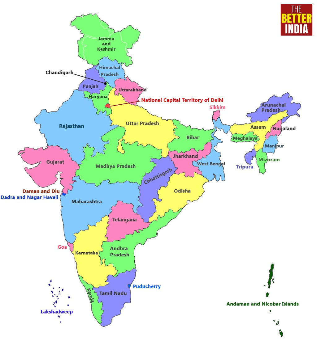 India Map With All States.Here S A List Of Books From Every Indian State And Union Territory