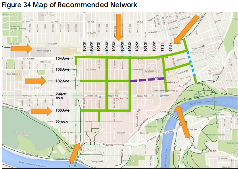 Proposed Edmonton Downtown Cycle Track